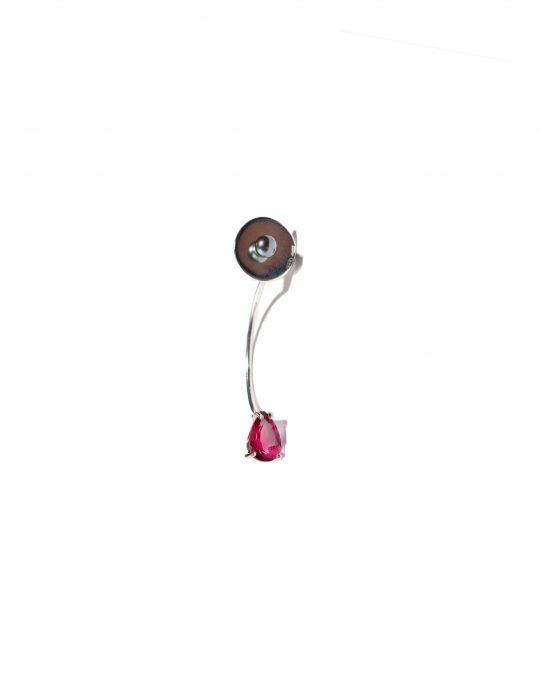 Drop Single Earring con Rodolite