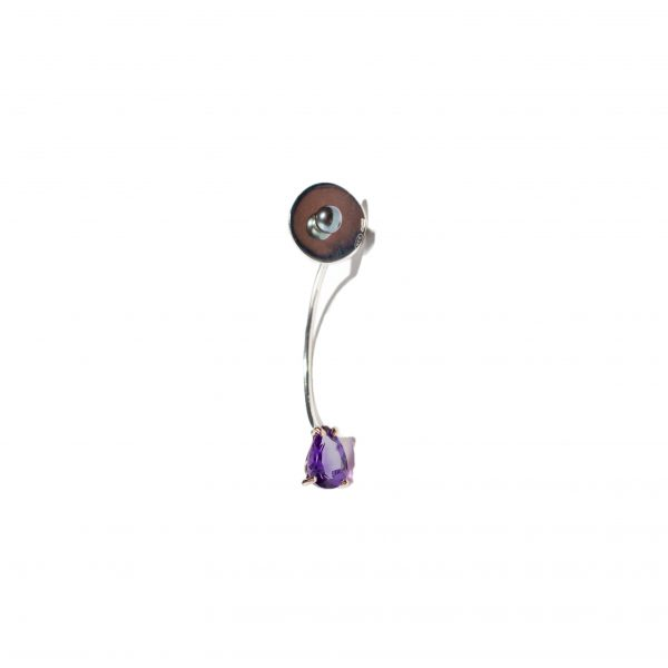Drop Single Earring con Ametista