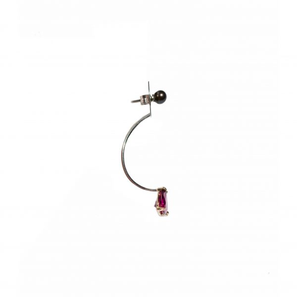 Drop Single Earring con Rodolite